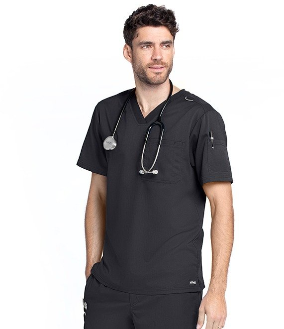 Men's 2 Pocket V-Neck Top with Badge Loop