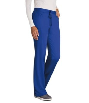 5 Pocket Mid-Rise Flare Leg Pant