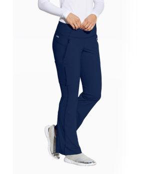 7 Pocket Mid Rise Yoga-Style Flare Leg Pant