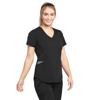 4 Pocket V Neck with Shirt Tail Hem